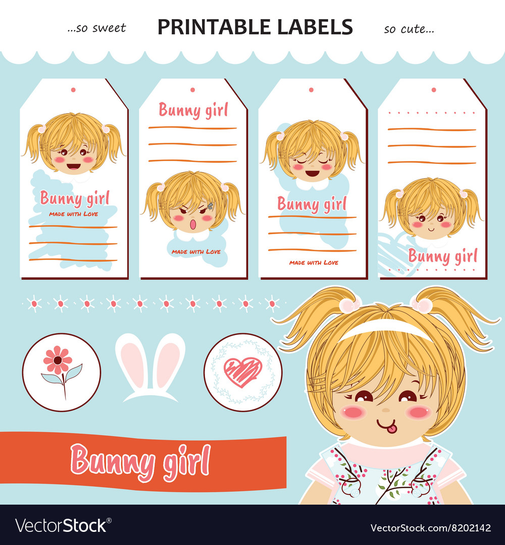 collection printable gift tag labels royalty free vector