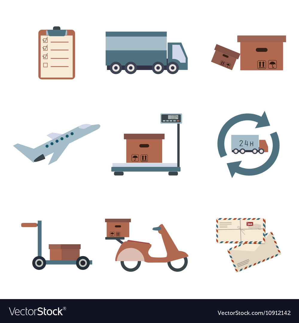 Delivery icons set shipping Service collection