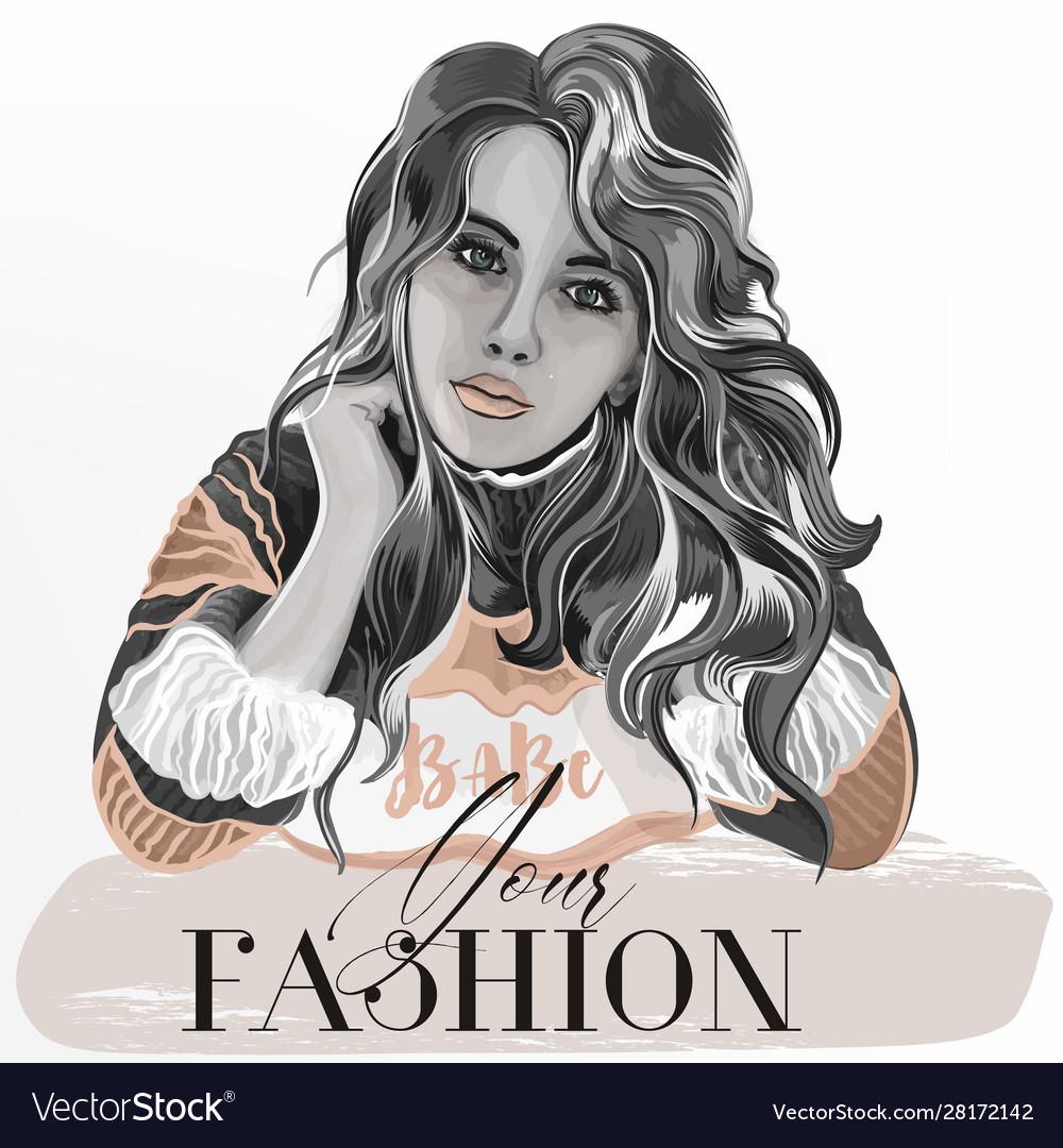 Fashion with beautiful girl