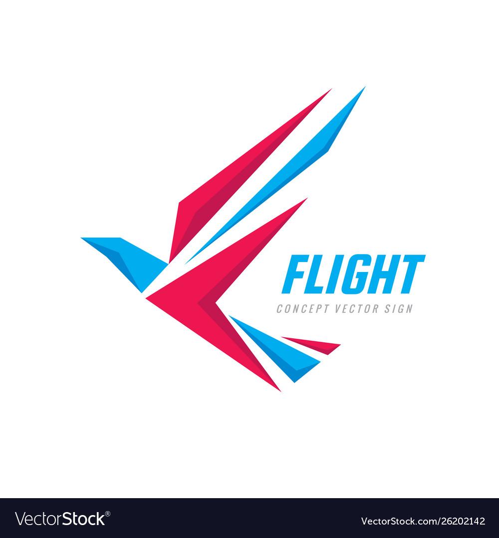 Flight - creative bird logo design wings abstract