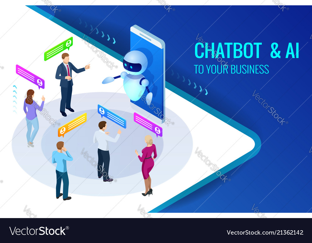 Isometric artificial intelligence chat bot and