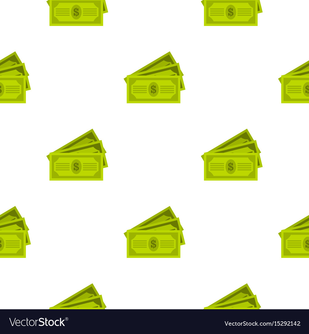 Three dollar bills pattern flat vector image