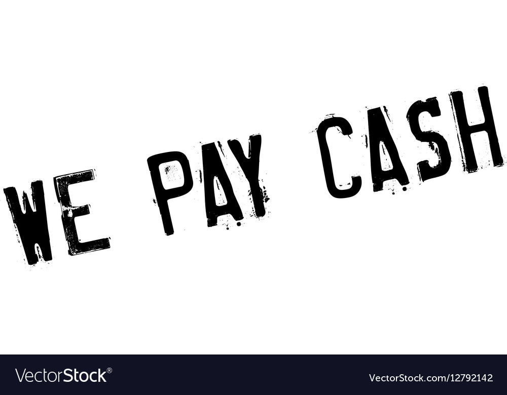 We Pay Cash rubber stamp Royalty Free Vector Image