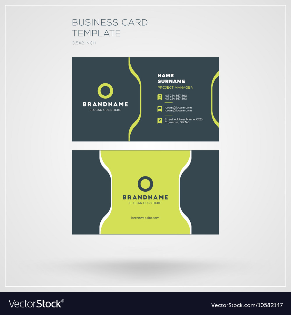 Business card template personal visiting card with business card template personal visiting card with vector image accmission Image collections