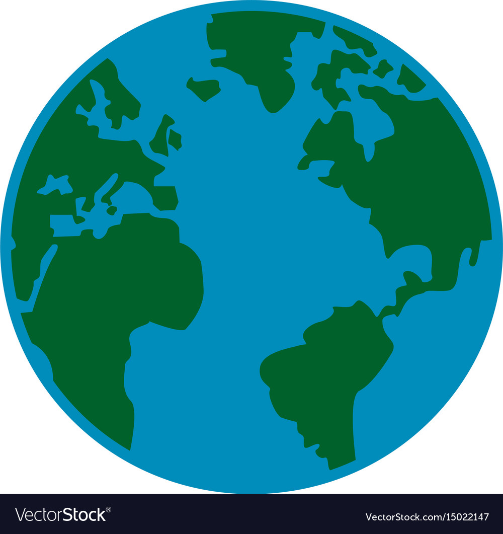Global earth map world geography image Royalty Free Vector