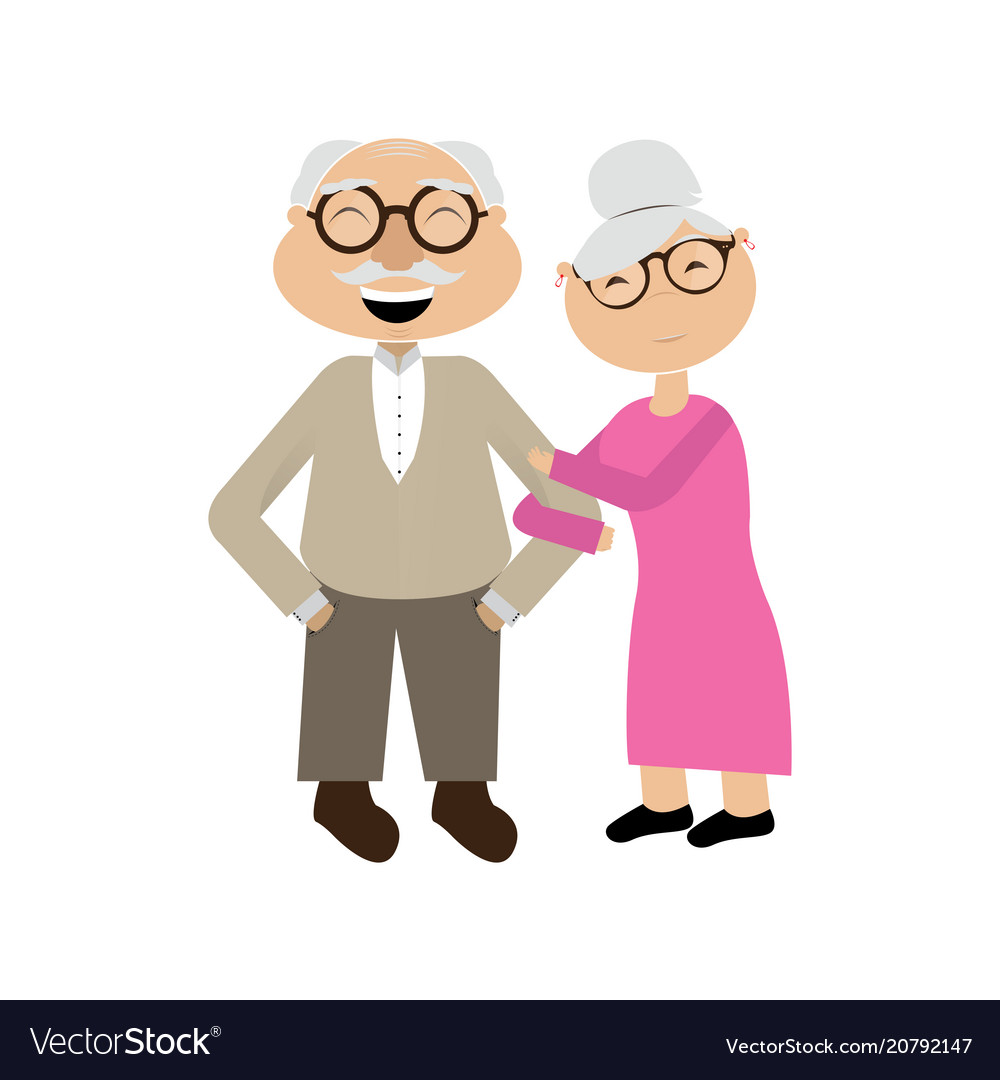 Isolated grandparents couple