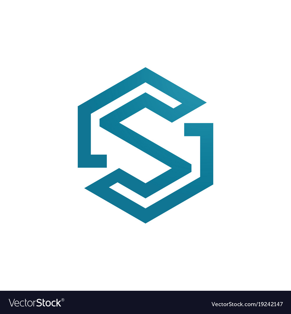 Polygon letter s logo Royalty Free Vector Image