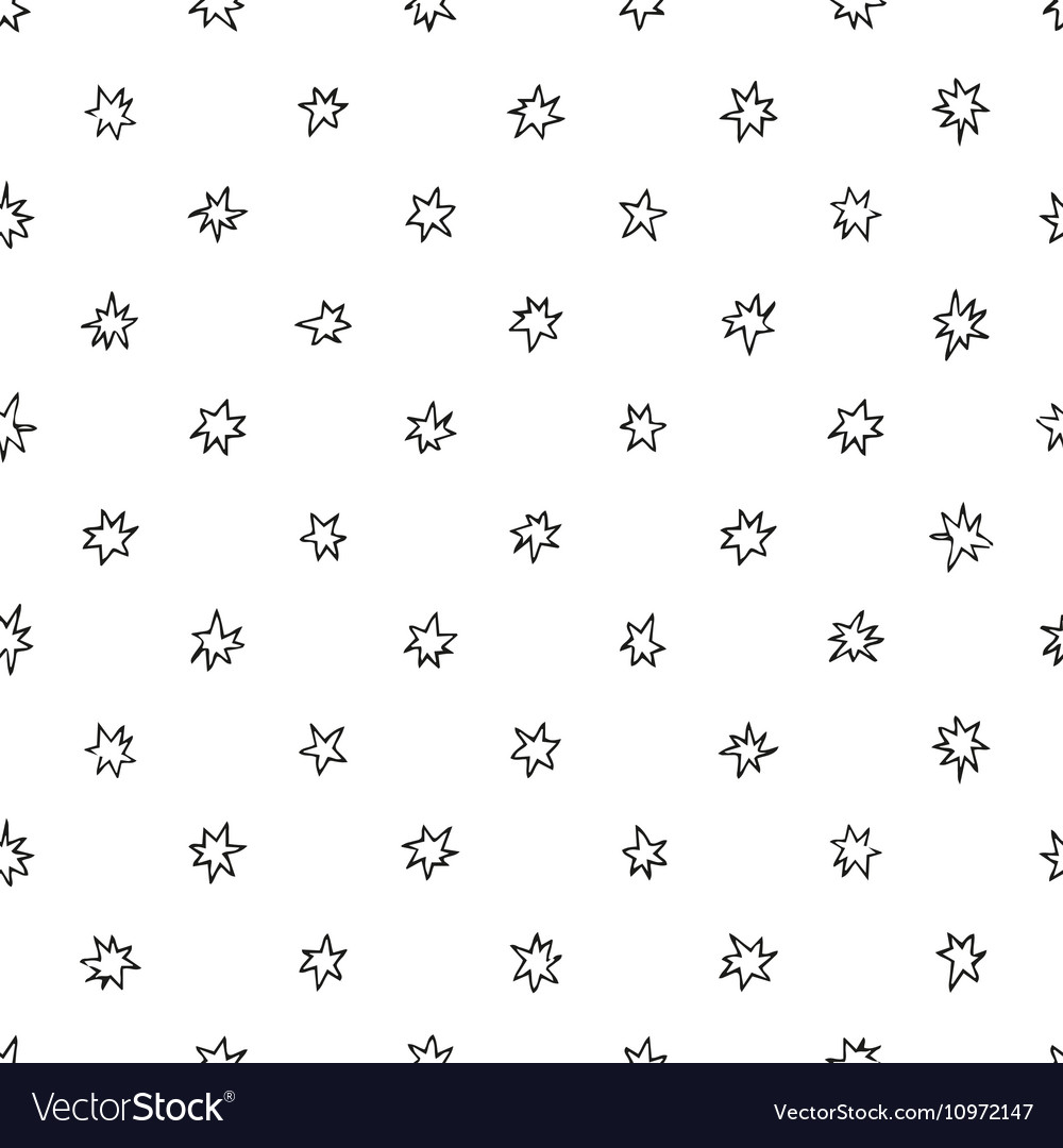 Simple seamless pattern with stars