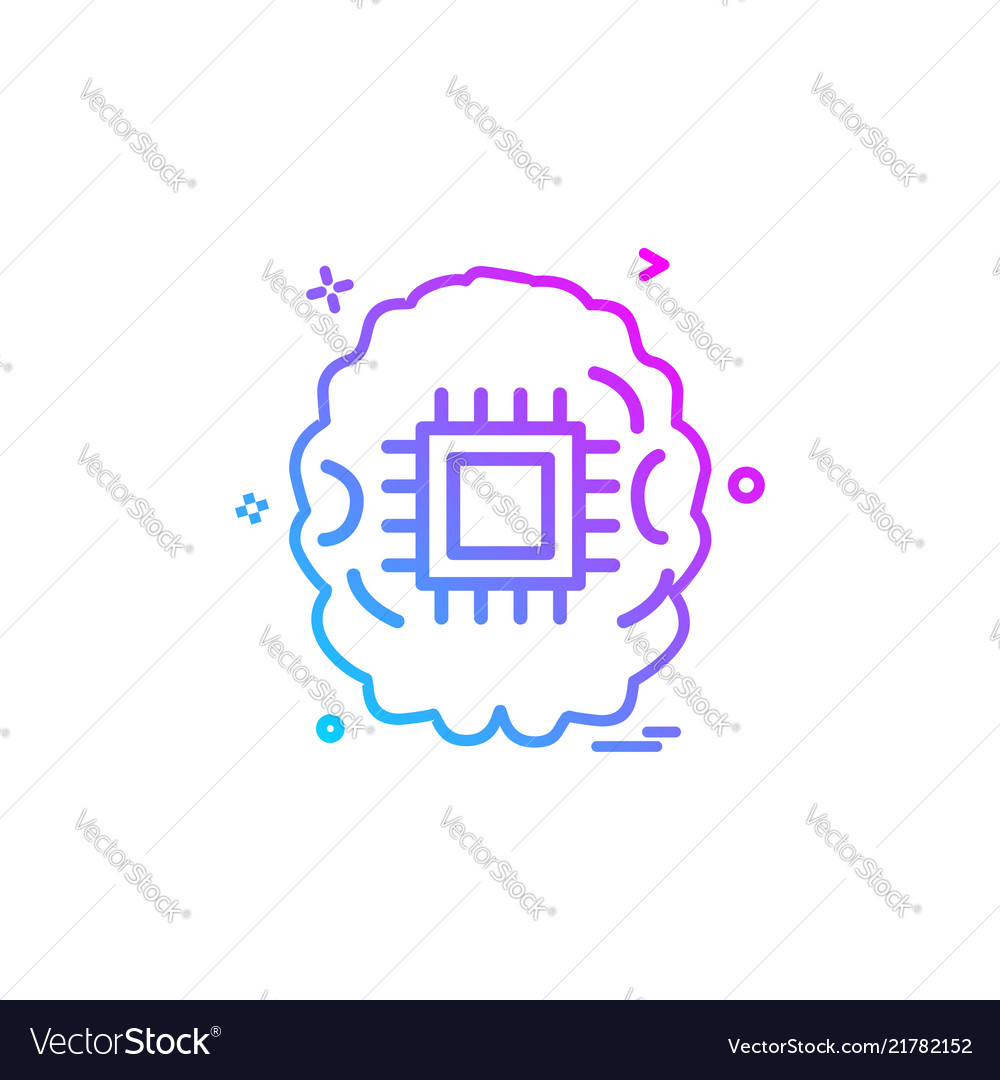 Artificial intelligence robot icon design