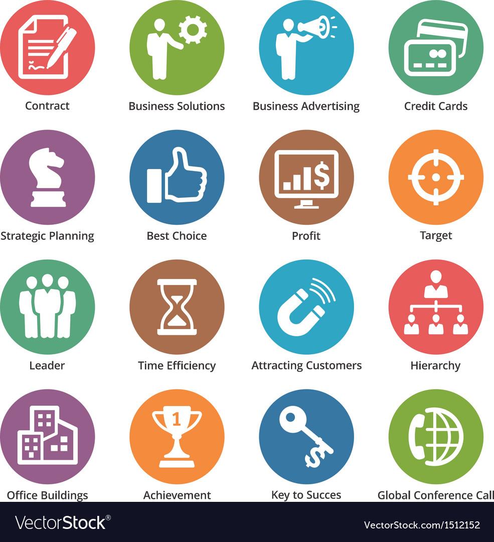 Business Icons Set 2 - Dot Series