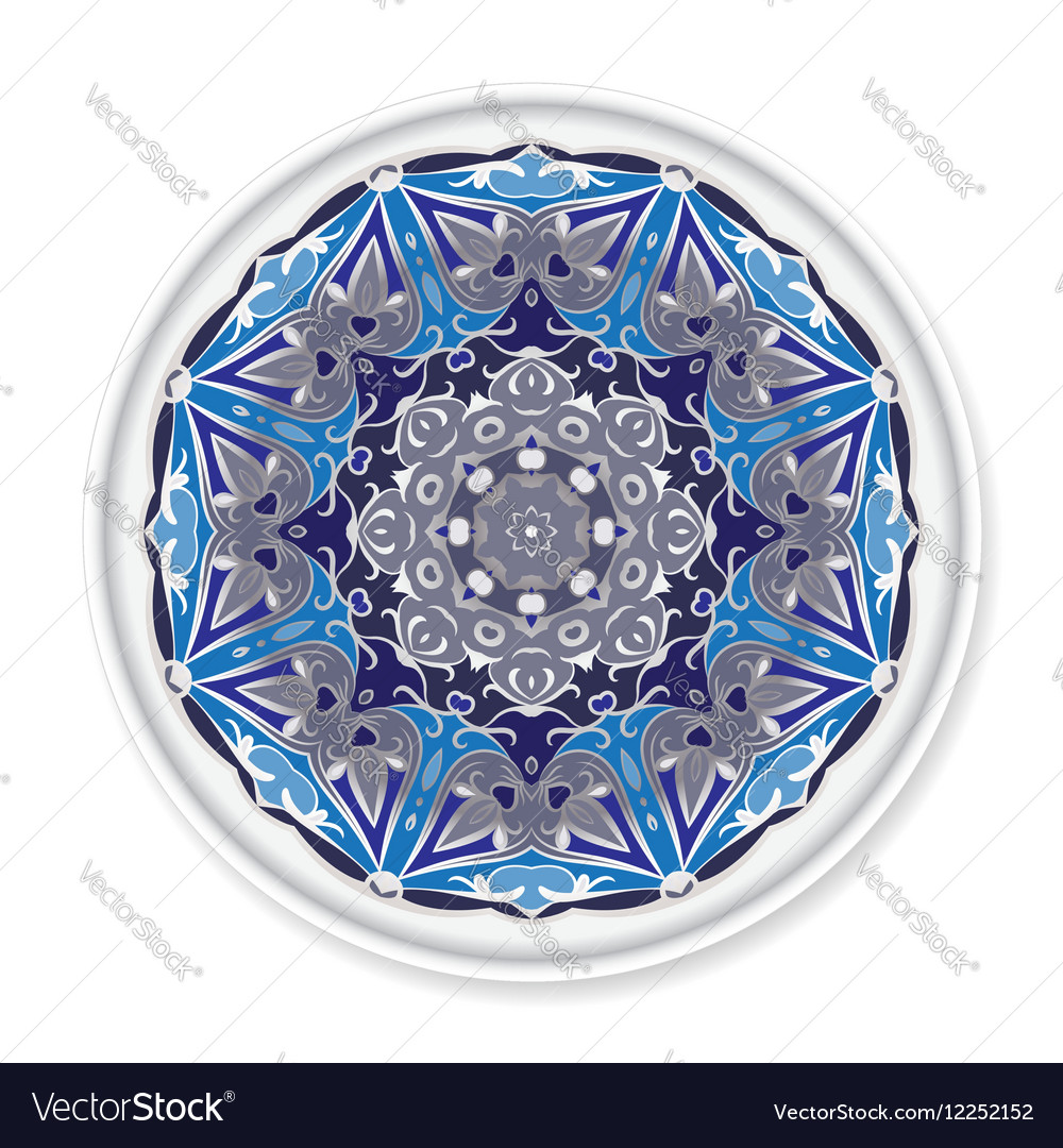 Decorative plate with round ornament