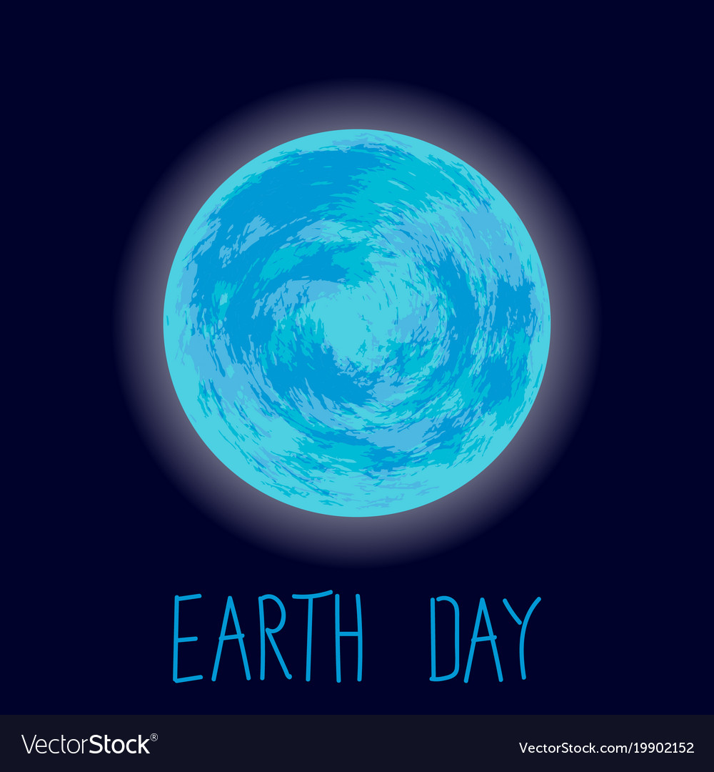Earth day planet earth on dark blue