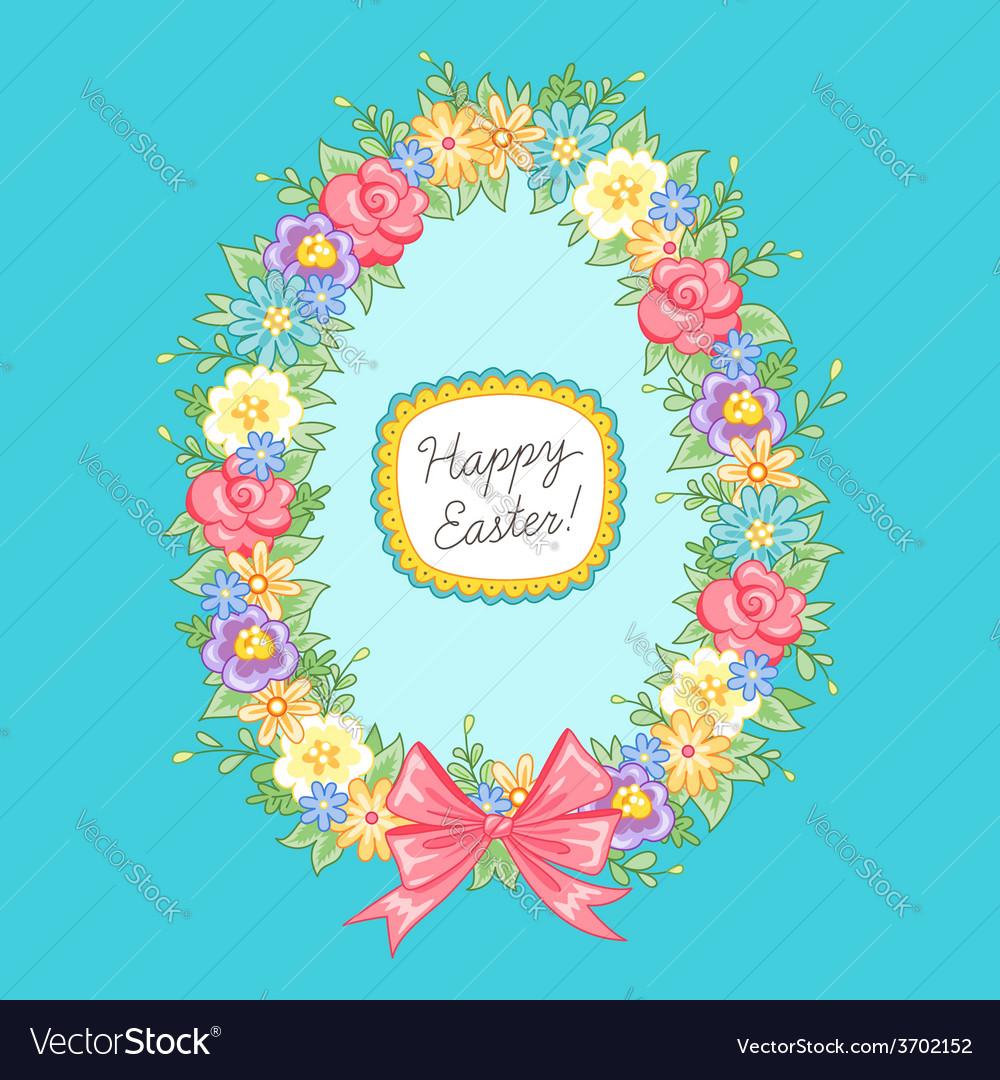 Easter wreath egg blue