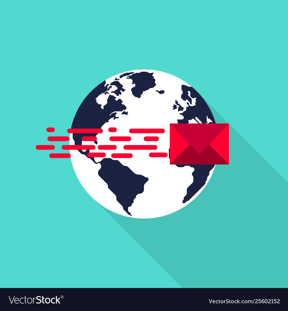 Global communication connection network concept