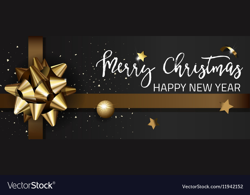 Merry christmas or happy new year web banner