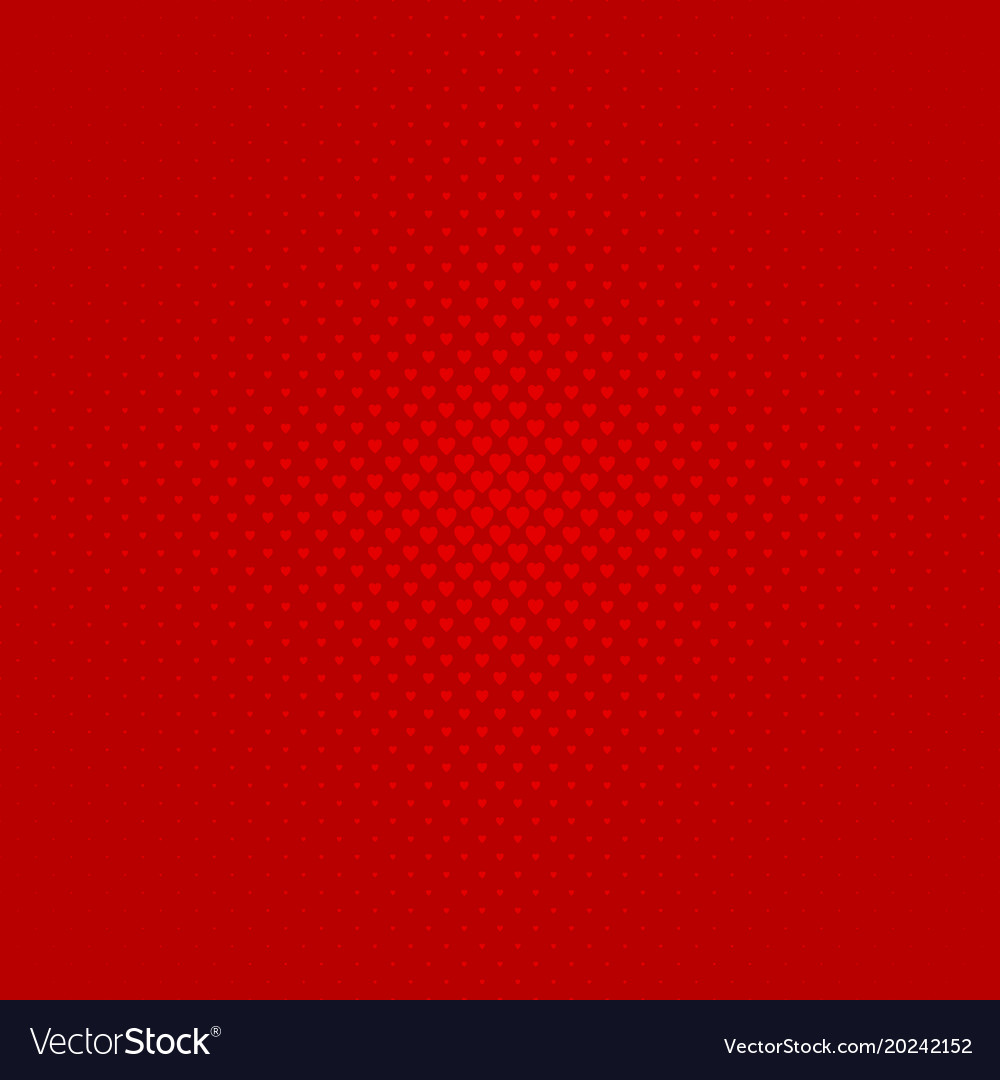 Red abstract halftone heart background pattern