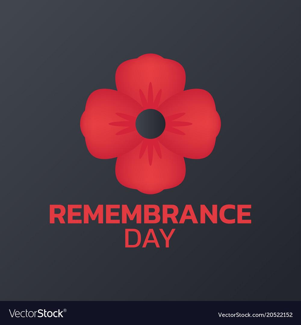 Remembrance day logo icon design