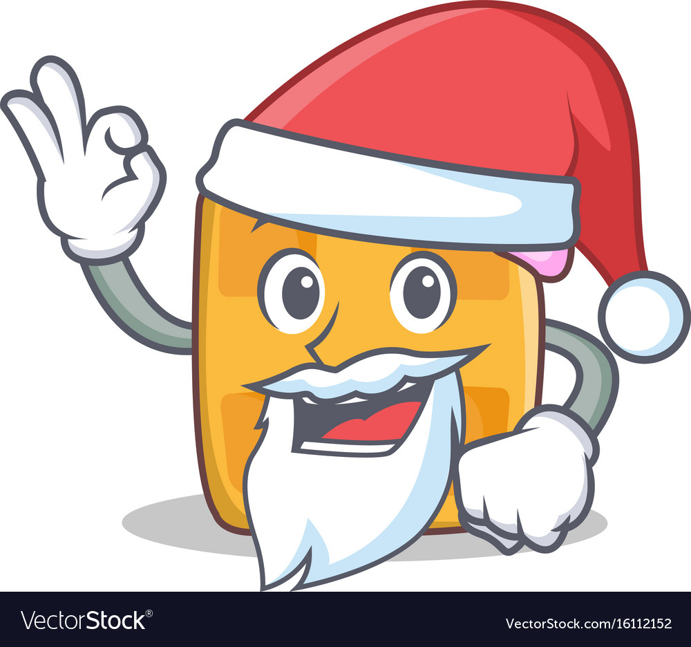 Santa waffle character cartoon design