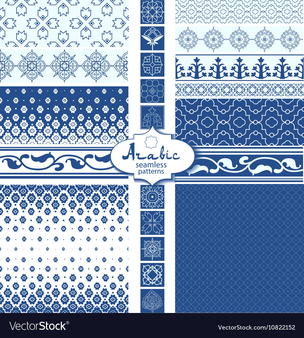Seamless arabic backgrounds and borders
