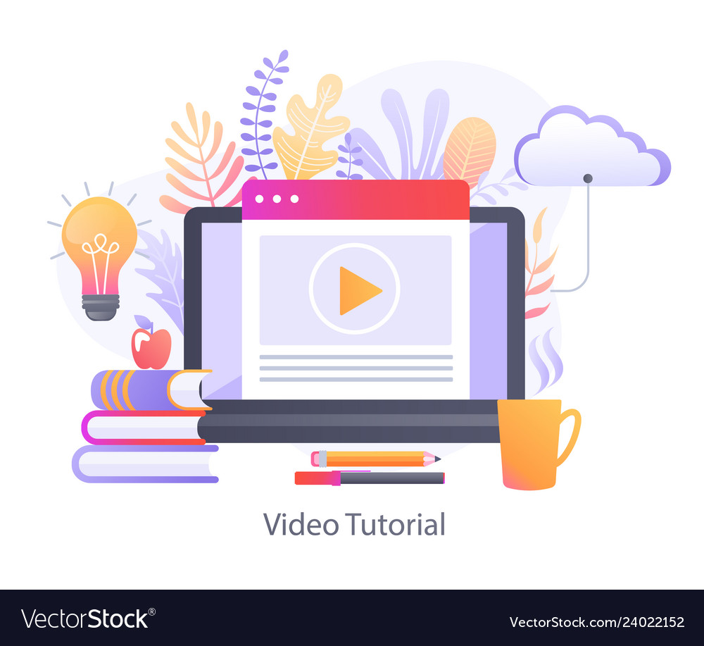 Video tutorial for online education