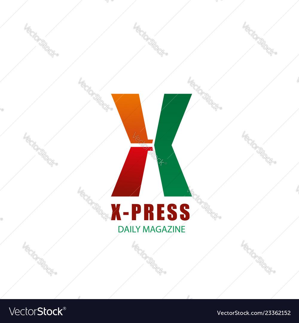 X letter icon for x-press magazine