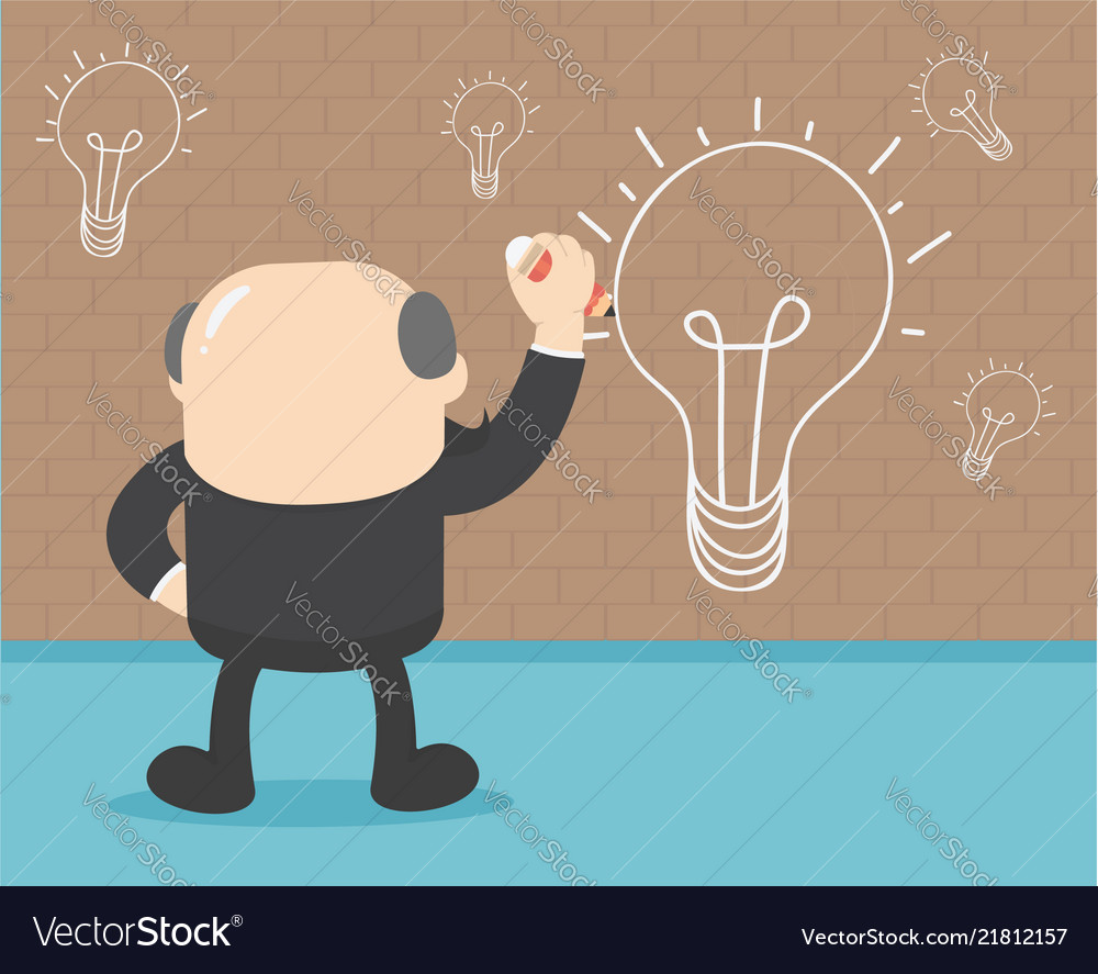 Businessmen Are Painting A Wall Lamp When They