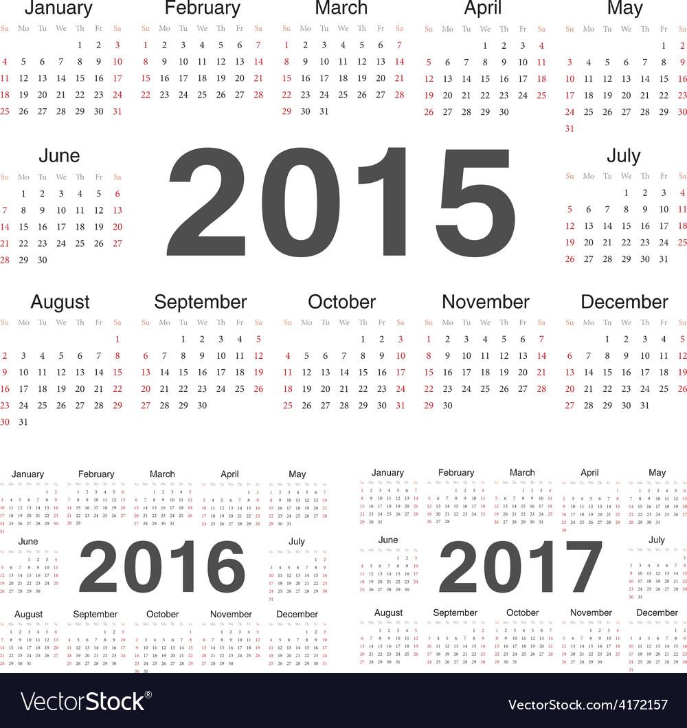 Circle calendars 2015 2016 2017