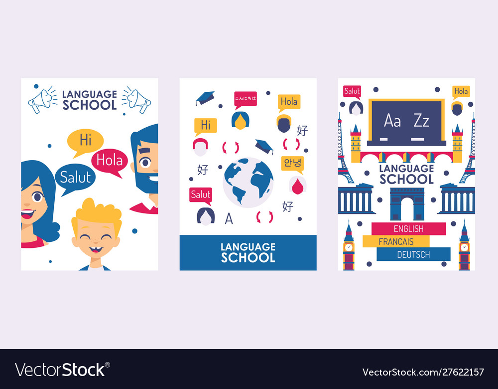 Language school banner