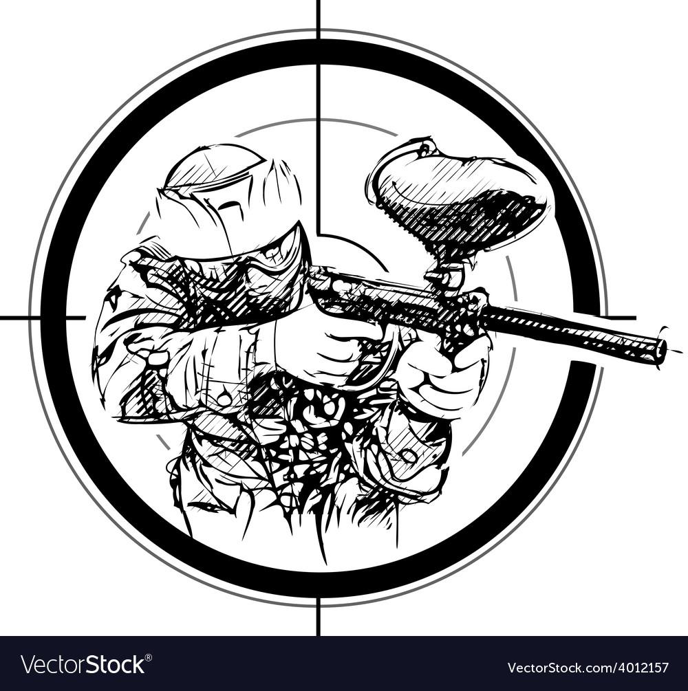 Paintball aim vector image