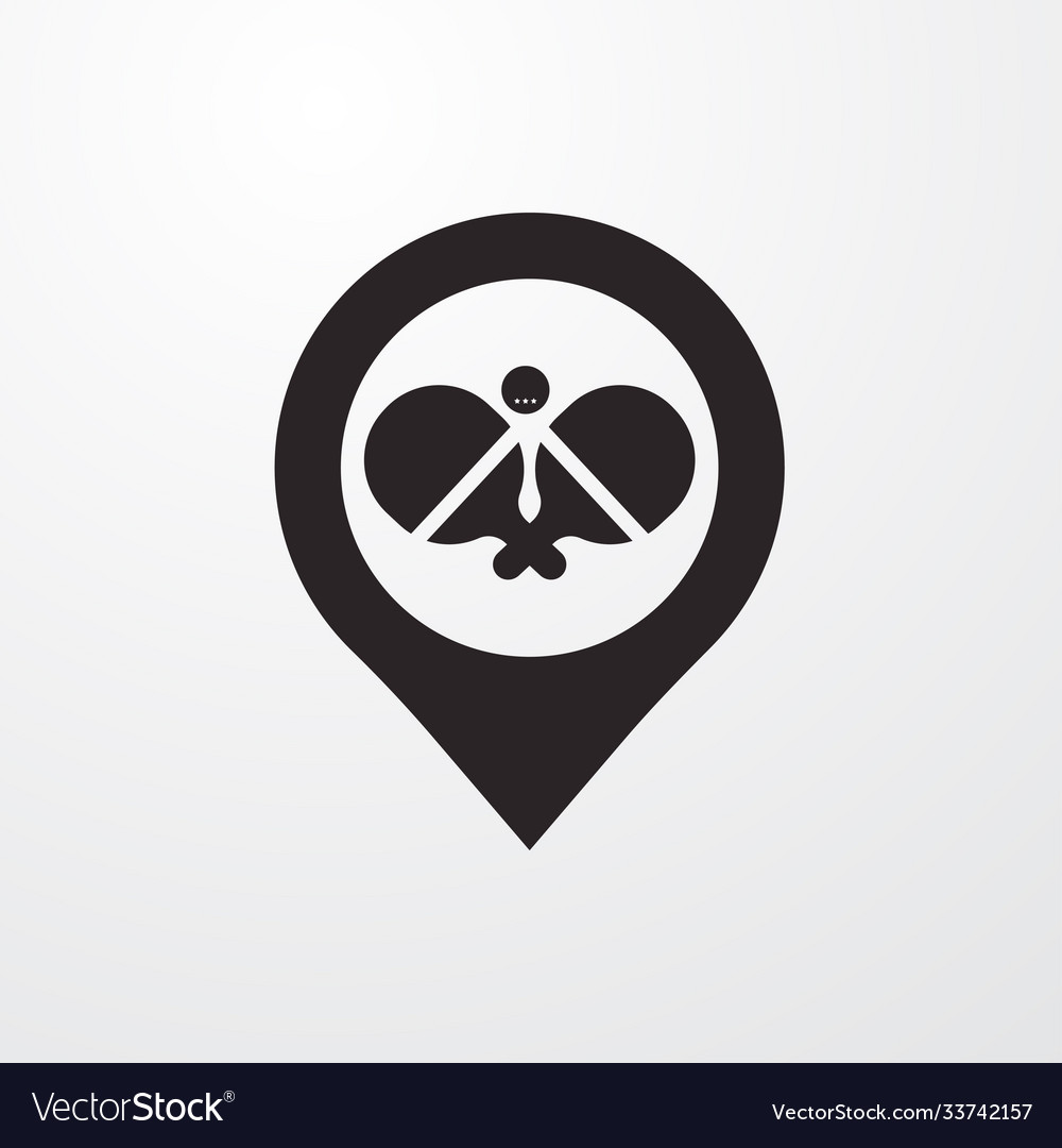 Ping pong with pin icon