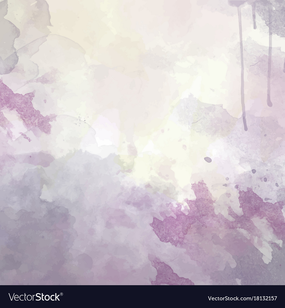 Purple hand drawn watercolor background