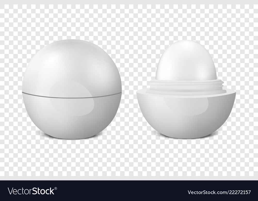 Realistic 3d white blank glossy closed and