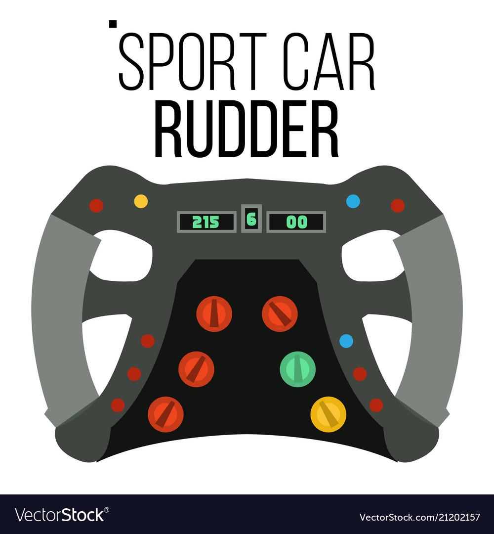 Sport car steering wheel sport car racing