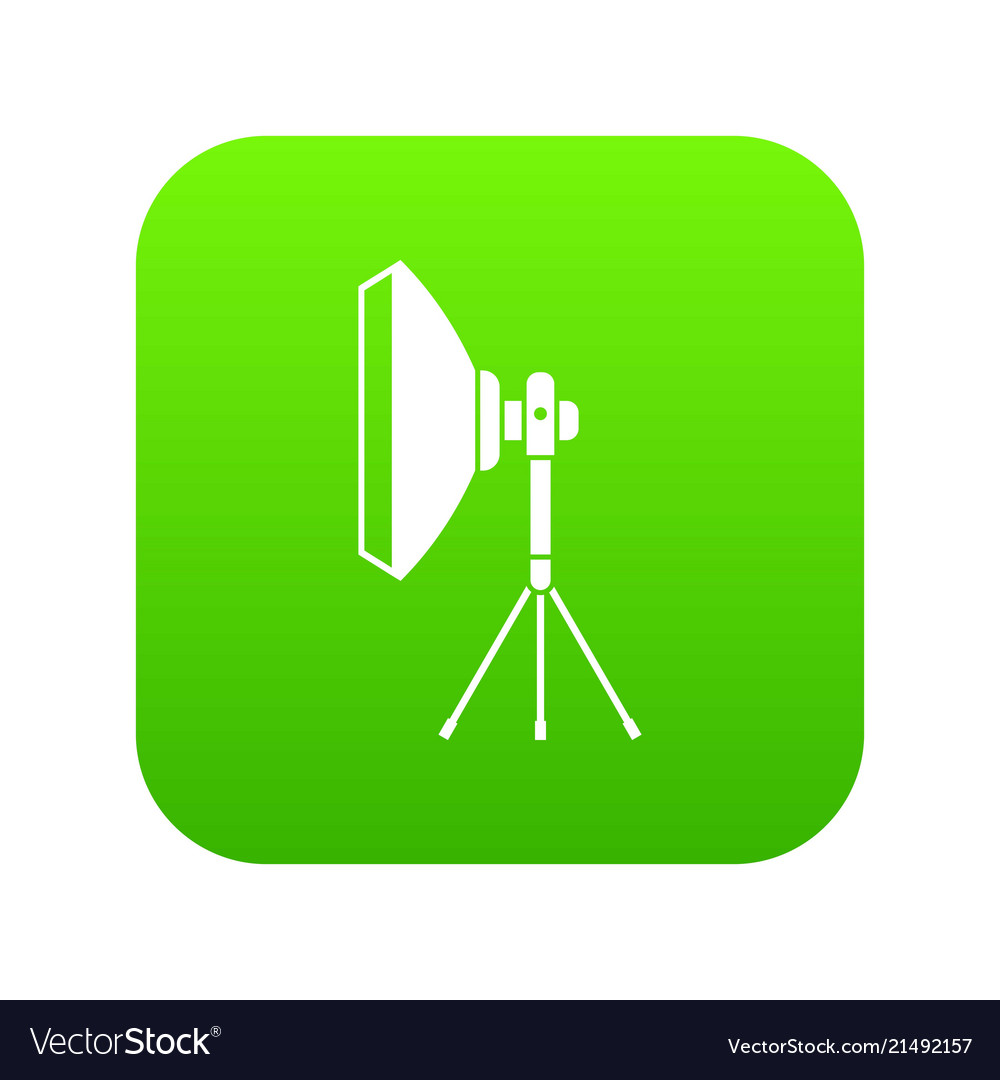 Superb Studio Lighting Equipment Icon Digital Green Vector Image Wiring 101 Israstreekradiomeanderfmnl