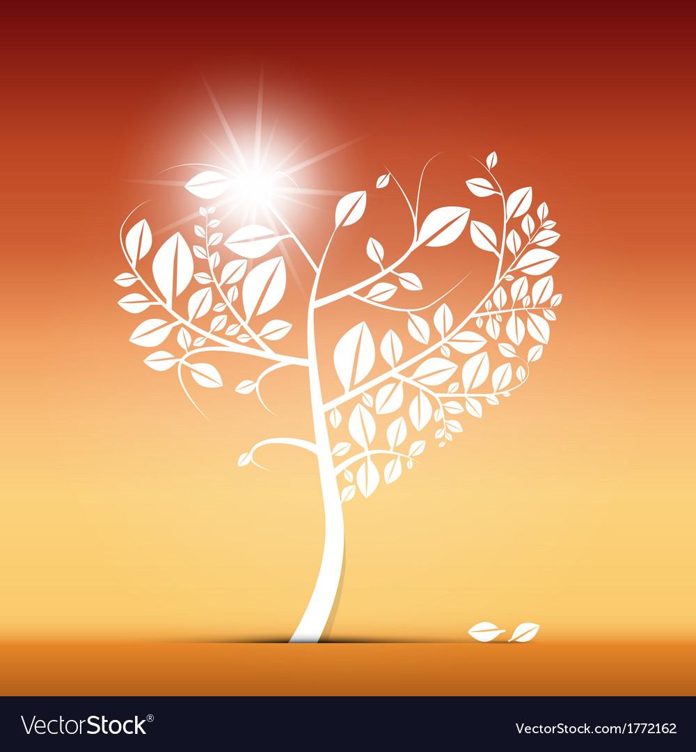 Abstract Heart Shaped Tree on Desert