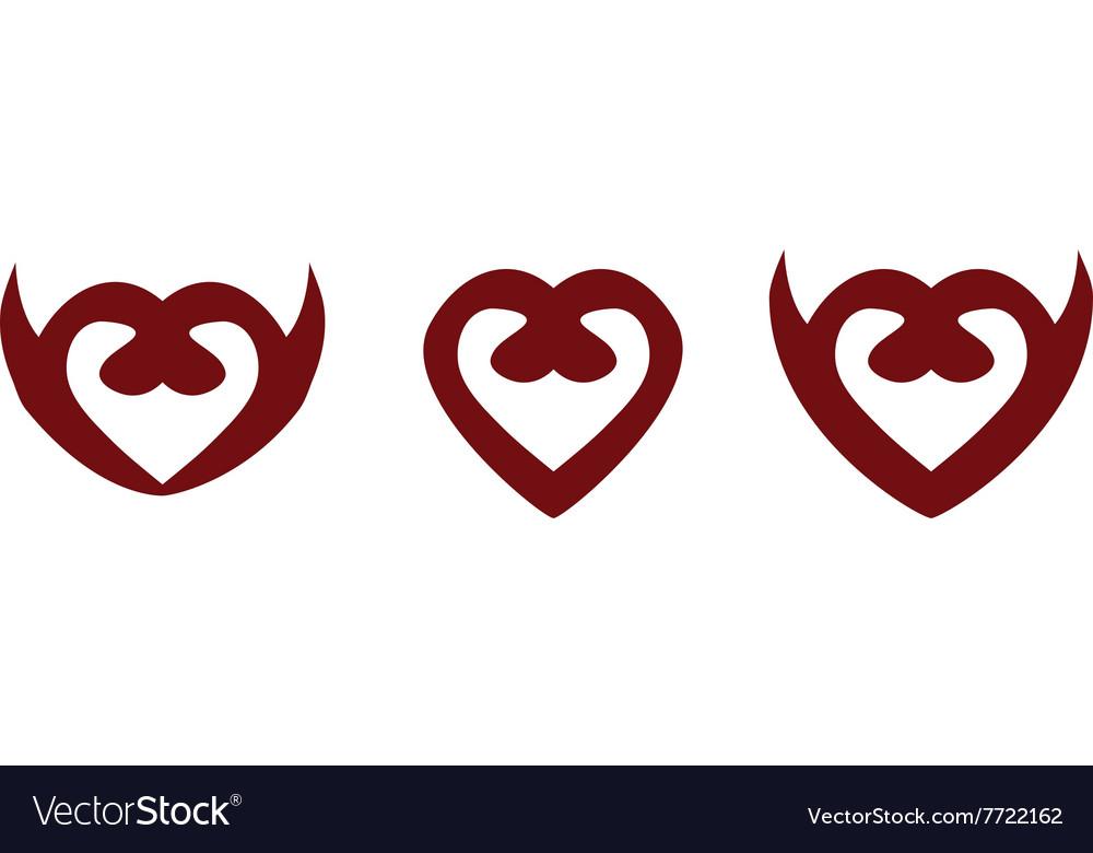 Heart Symbols Royalty Free Vector Image Vectorstock