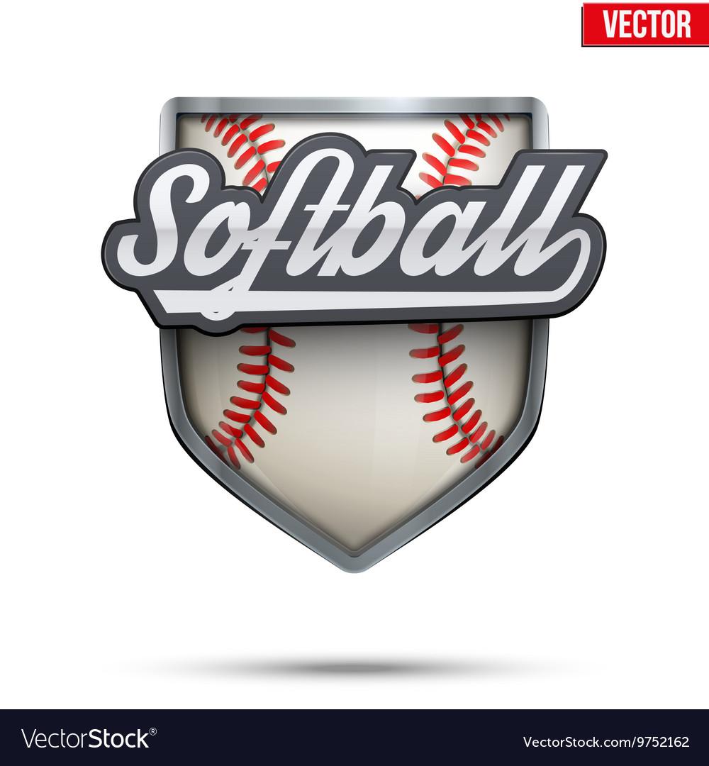 Premium symbol of Softball label