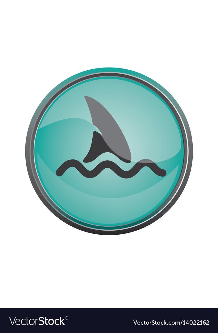 Travel icon summer vacations shark eps10