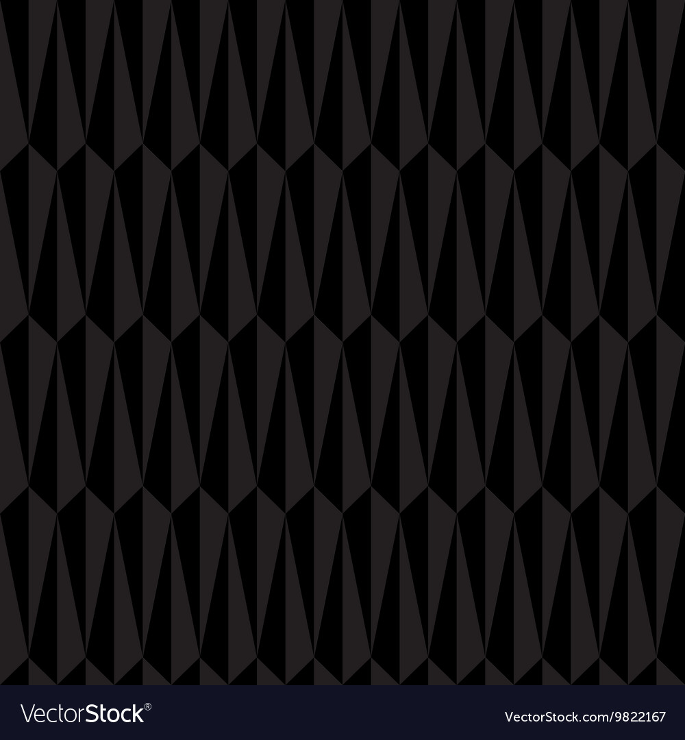 Black Abstract Geometric Seamless Pattern vector