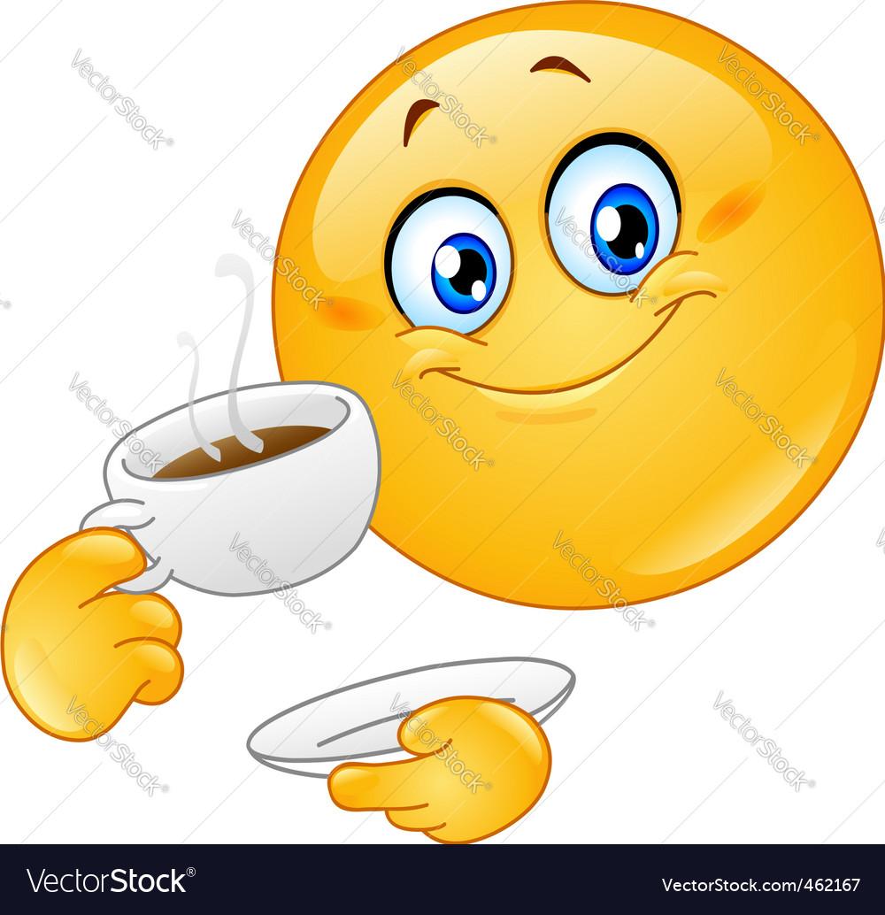 Coffee emoticon vector image