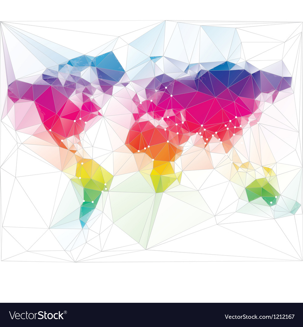 Colored world map triangle design royalty free vector image colored world map triangle design vector image gumiabroncs Gallery