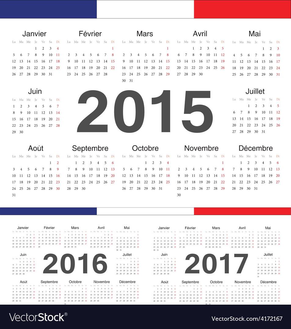French rcircle calendars 2015 2016 2017