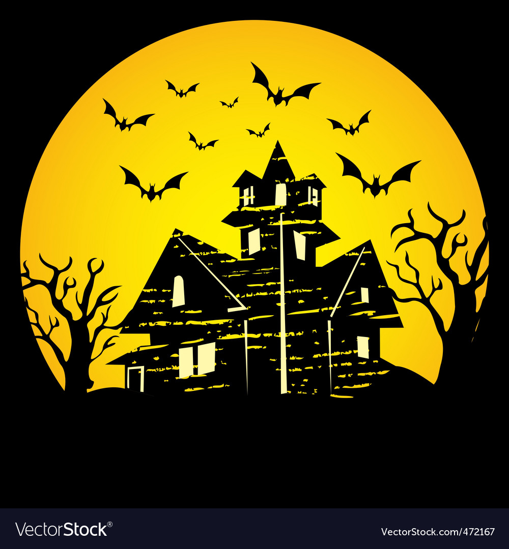haunted house royalty free vector image vectorstock rh vectorstock com haunted house vector png haunted house silhouette vector