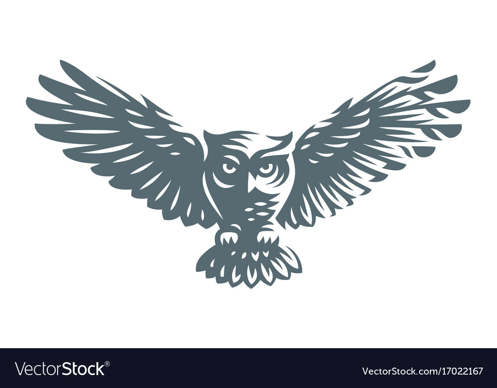 Owl - icon design vector image