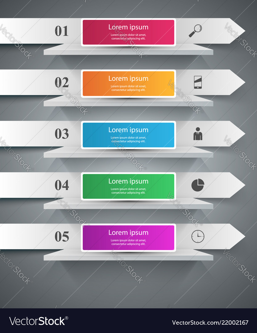 Shelf pin clip paper - business infographic