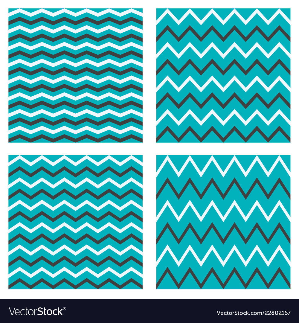 Tile seamless pattern zig zag set