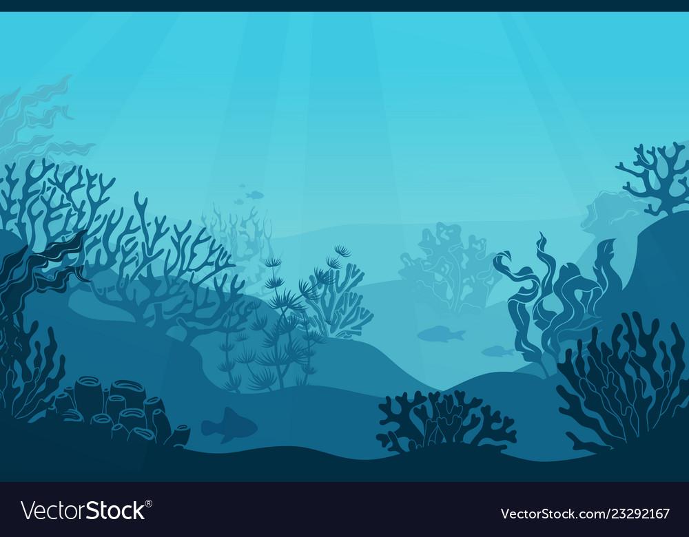 Underwater seascape seafloor undersea