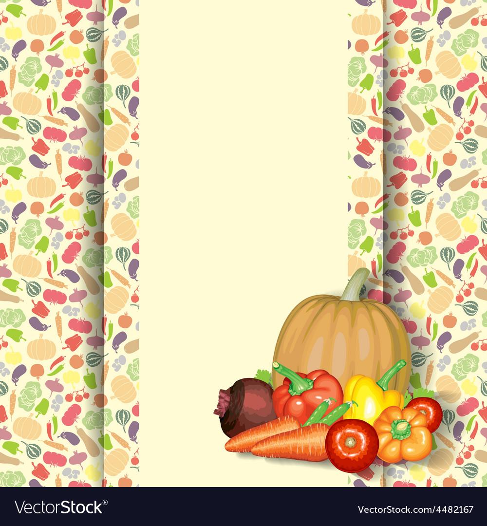 Vegetarian diet vector image