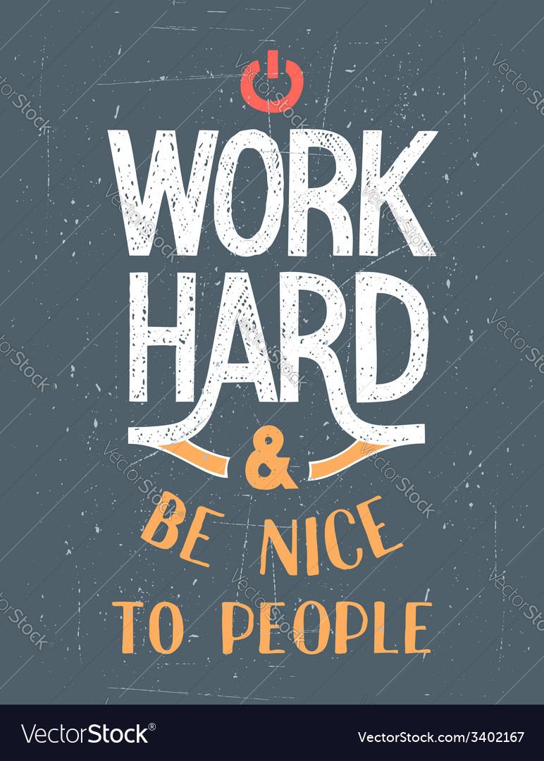 Work Hard motivational poster