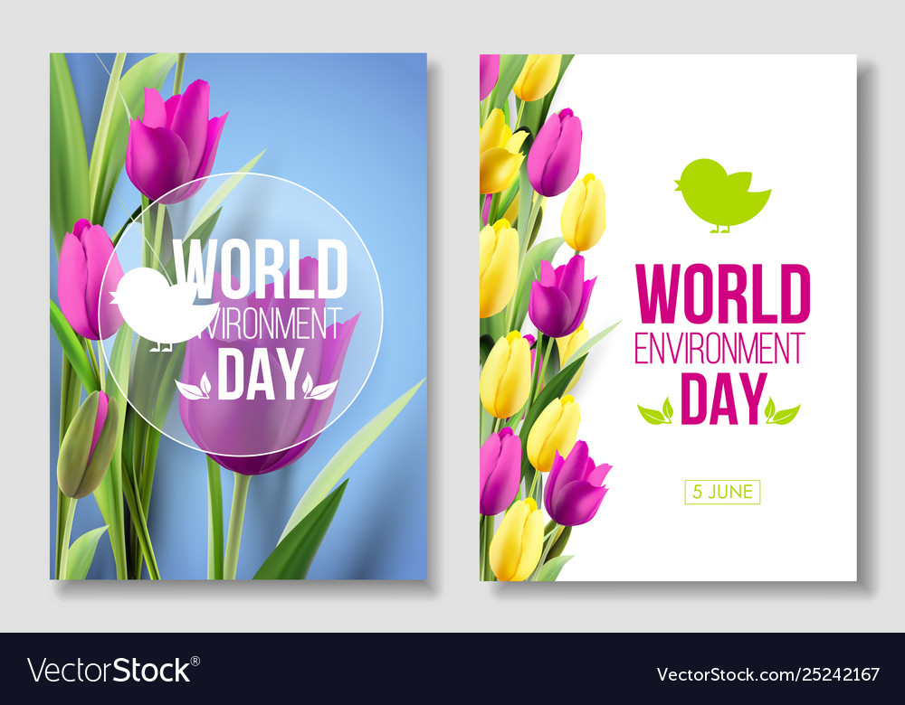 World environment day card banner